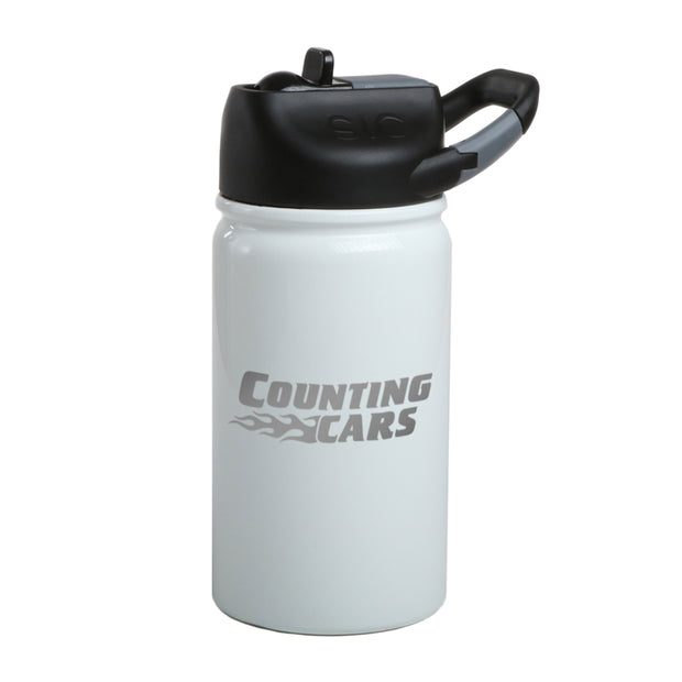 Counting Cars Logo Laser Engraved SIC Water Bottle