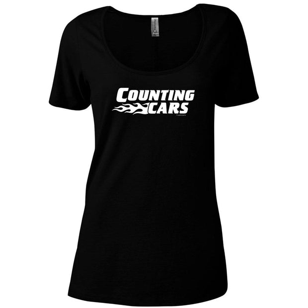 Counting Cars Logo Women's Relaxed Scoop Neck T-Shirt
