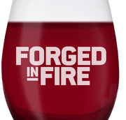 Forged in Fire Logo Laser Engraved Stemless Wine Glass