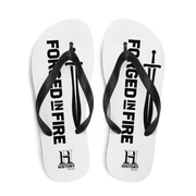 HISTORY Forged in Fire Series Logo Adult Flip Flops
