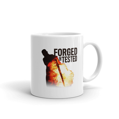 Forged in Fire Forged And Tested White Mug