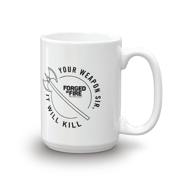 Forged in Fire It Will Kill Double Axe White Mug