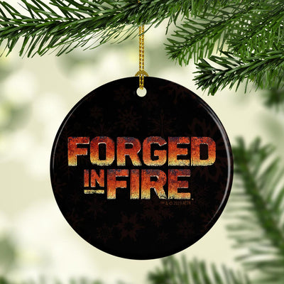 Forged in Fire Logo Double-Sided Ornament
