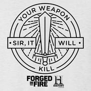 HISTORY Forged in Fire Series It Will Kill Women's Relaxed Scoop Neck T-Shirt