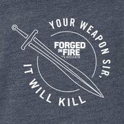 HISTORY Forged in Fire Series It Will Kill Crest Sword Women's Tri-Blend Dolman T-Shirt