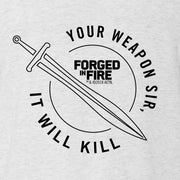 HISTORY Forged in Fire Series It Will Kill Sword Men's Tri-Blend Short Sleeve T-Shirt