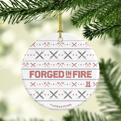 Forged in Fire Holiday Double-Sided Ornament