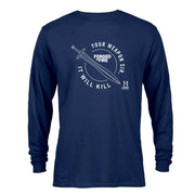 HISTORY Forged in Fire Series It Will Kill Crest Sword Long Sleeve T-Shirt