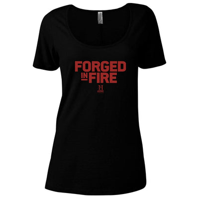 HISTORY Forged In Fire Series Logo Women's Relaxed Scoop Neck T-Shirt
