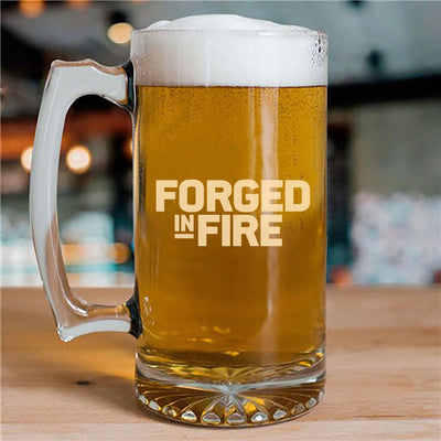 Forged In Fire 25 oz Beer Glass