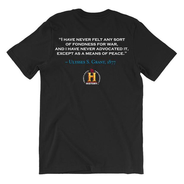 Ulysses S. Grant Fondness For War Quote and Portrait Adult Short Sleeve T-Shirt