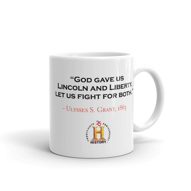 Ulysses S. Grant Lincoln and Liberty White Mug