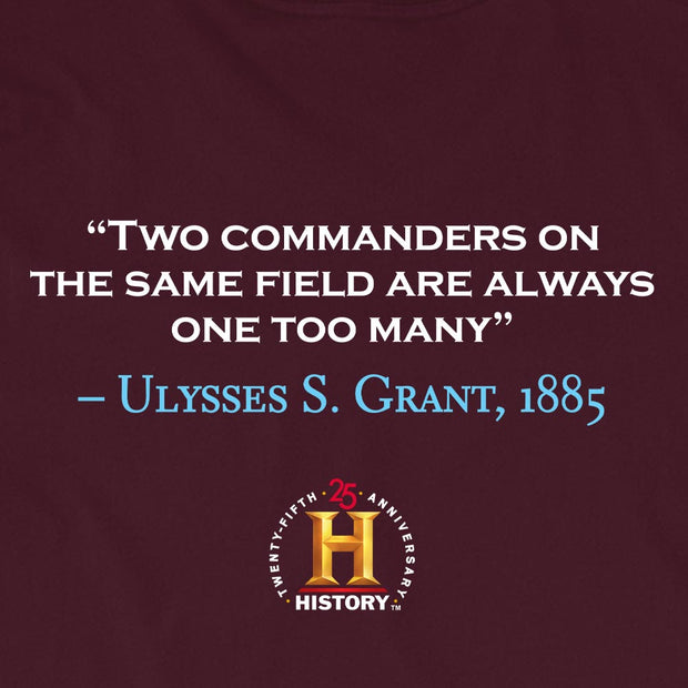 Ulysses S. Grant Two Commanders Quote and Portrait Adult Short Sleeve T-Shirt