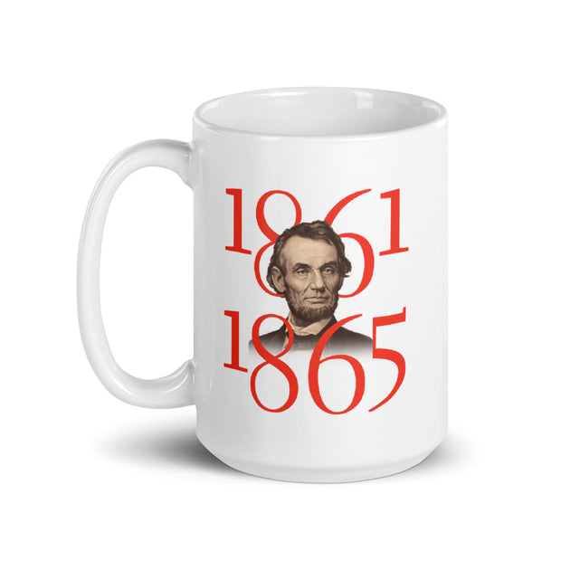 Abraham Lincoln Not Enemies But Friends White Mug