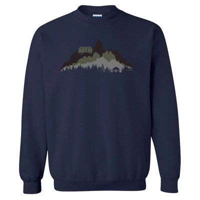 Mountain Men In The Wild Fleece Crewneck Sweatshirt