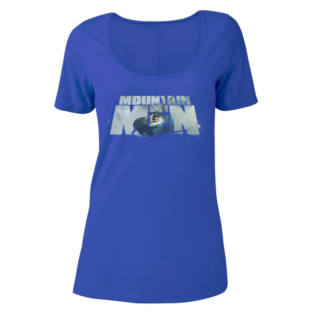 Mountain Men Tom Oar Logo  Women's Relaxed Scoop Neck T-Shirt