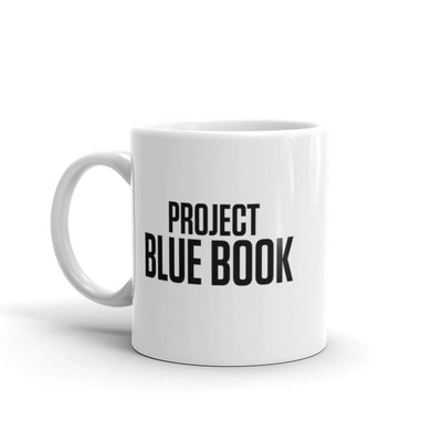 Project Blue Book Logo White Mug