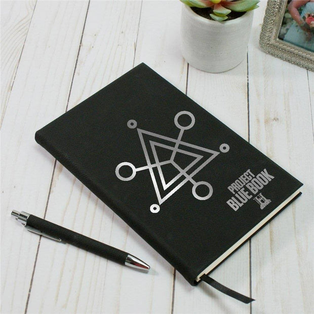 Project Blue Book Symbol Leather Journal