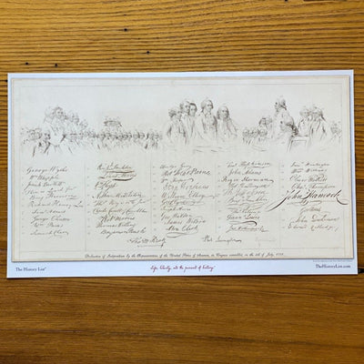 The Signers of the Declaration of Independence and their signatures""