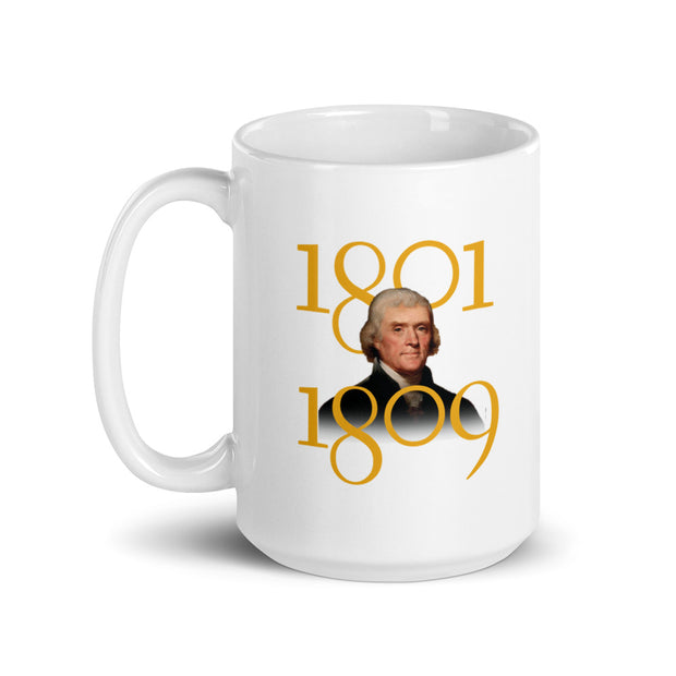 Thomas Jefferson Laws Made By Common Consent White Mug
