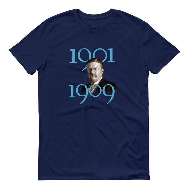 HISTORY Collection Theodore Roosevelt Nine-Tenths of Wisdom Quote & Portrait Adult Short Sleeve T-Shirt