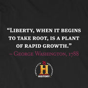 George Washington Liberty When It Begins To Take Root Quote and Portrait Adult Short Sleeve T-Shirt