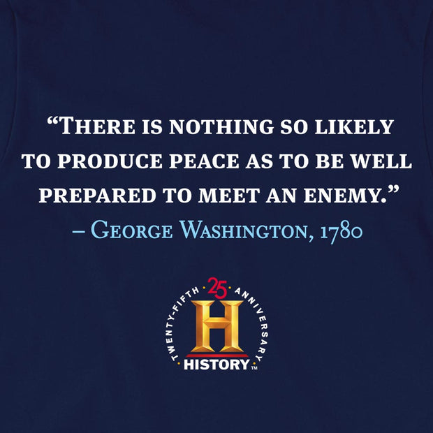 George Washington Produce Peace Quote and Portrait Adult Short Sleeve T-Shirt