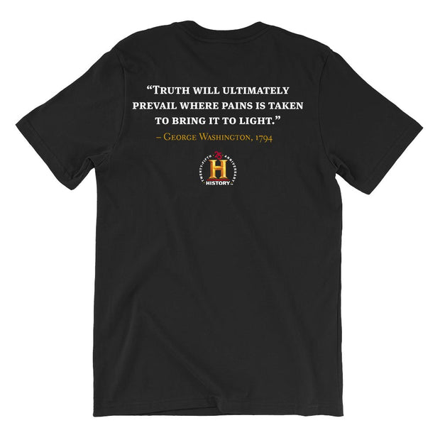 George Washington Truth Will Prevail Quote and Portrait Adult Short Sleeve T-Shirt