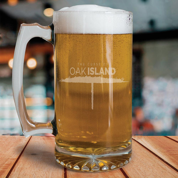 The Curse of Oak Island Etched 25 oz Beer Glass
