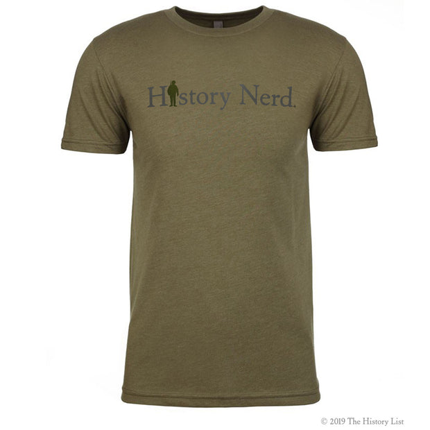 History Nerd with WWII Soldier T-Shirt