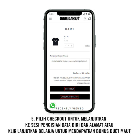 how to order cara belanja