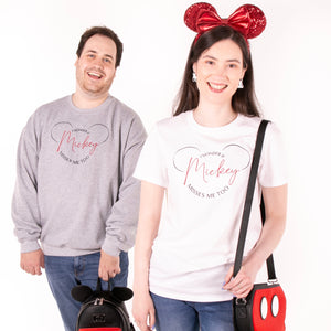 I Wonder If Mickey Misses Me Too Embroidered Jumper