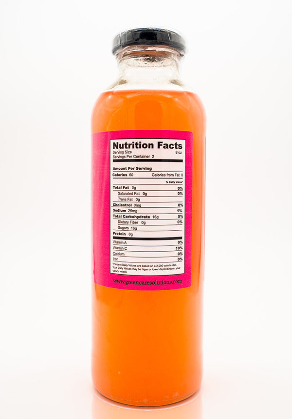 Green Care Solutions THC pink lemonade back of bottle