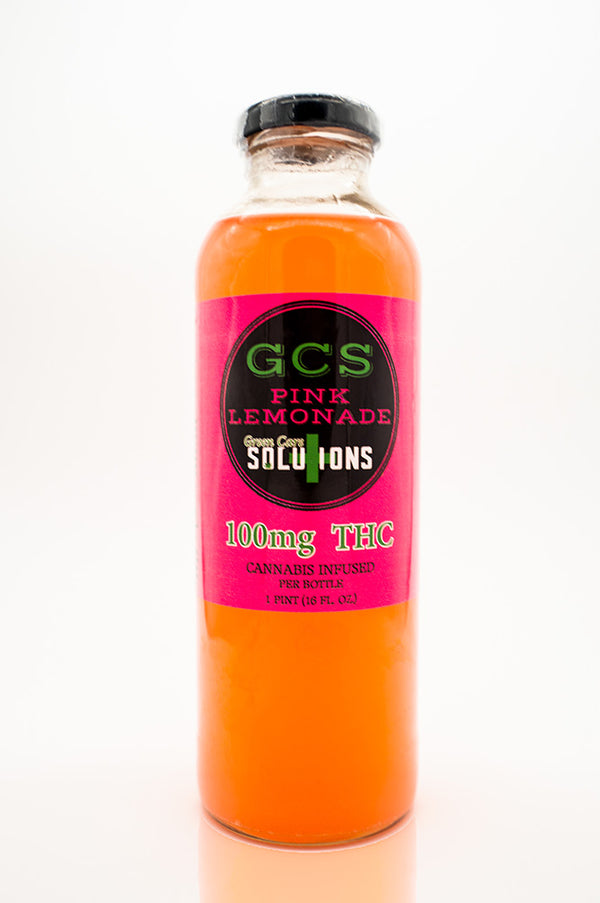 Green Care Solutions THC pink lemonade front of bottle