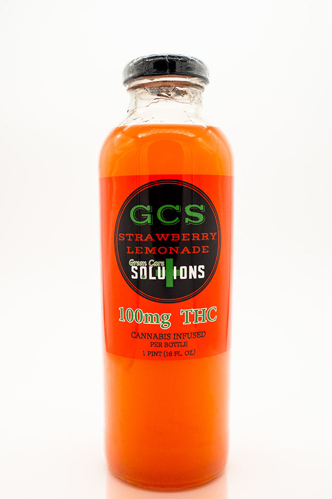Green Care Solutions THC strawberry lemonade front of bottle.jpg