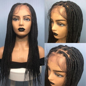 "30"" Box braids lace front wig"