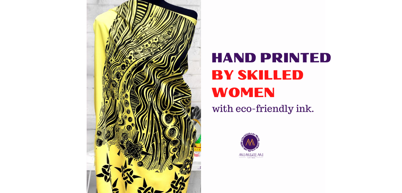 HAND PRINTED BY WOMEN