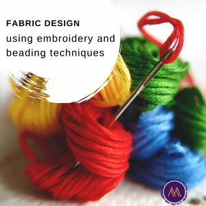 FABRIC BEADING AND EMBROIDERY ONLINE CLASS