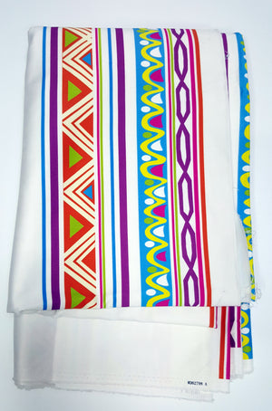 AFRO PRINT- 2 yards cotton and 5 3/4 soft satin