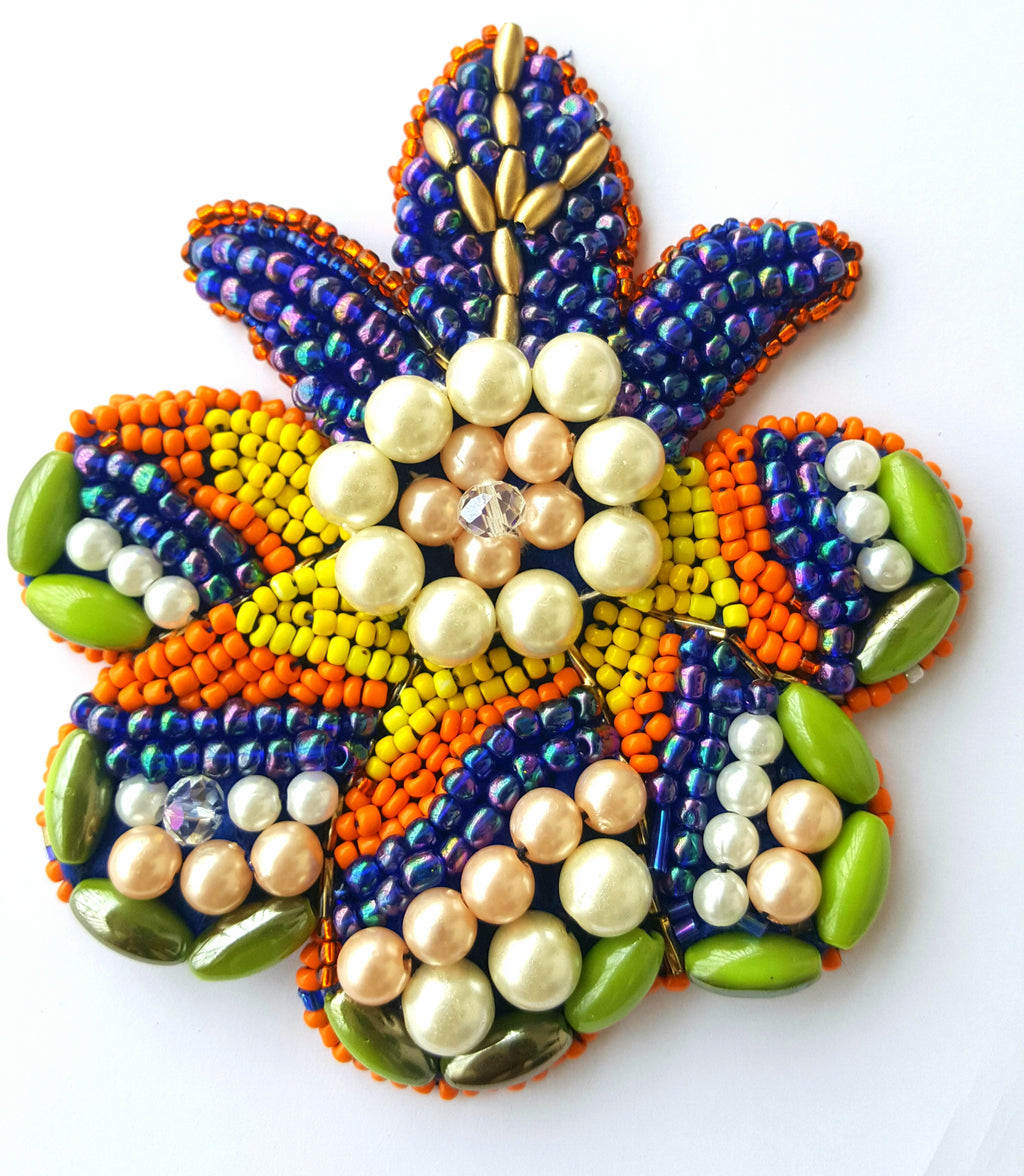 "HAND BEADED COLOURFUL FRUIT-41/4"" and 3.5"""