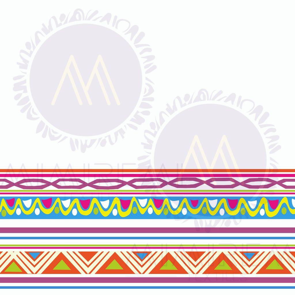 AFRO LINES WITH WHITE BACKGROUND  PATTERN FOR ALL SURFACES