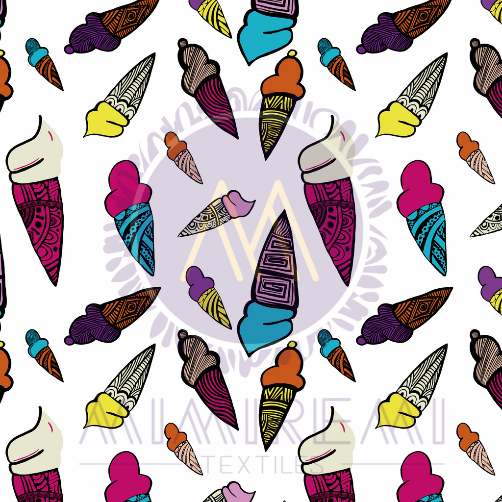 ICE CREAM WITH AFRICAN PATTERNS- PATTERN FOR ALL SURFACES