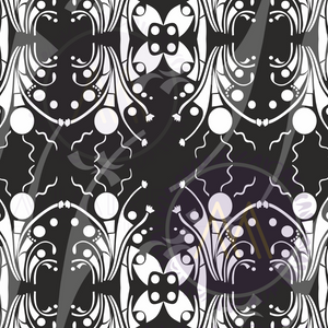 Black and white Alujo (TIME TO DANCE)- PATTERN FOR ALL SURFACES