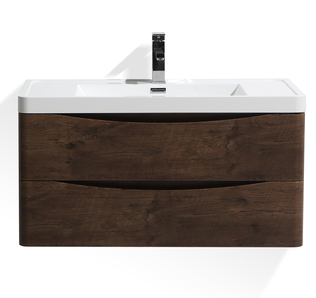 SMILE 800mm/900mm WALL HUNG ROSEWOOD VANITY