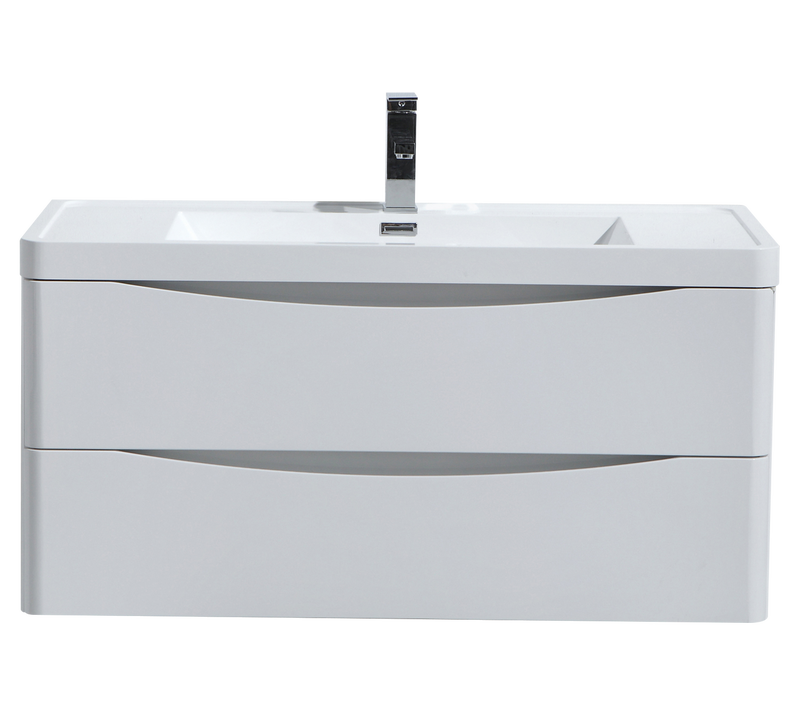 SMILE 800mm/900mm WALL HUNG GLOSS WHITE VANITY