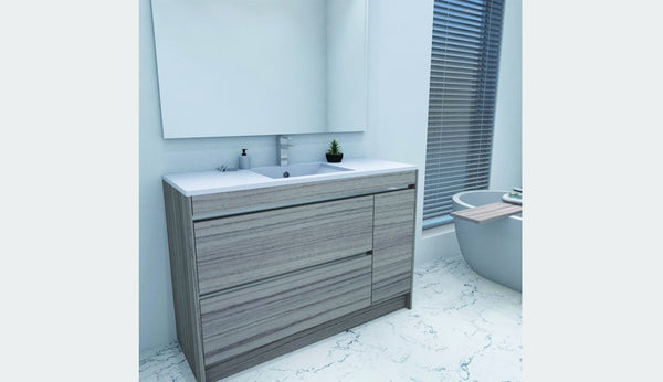 NZ Made Pania 1200 Floor Standing Single Basin Vanity - Available in 6 different finishes