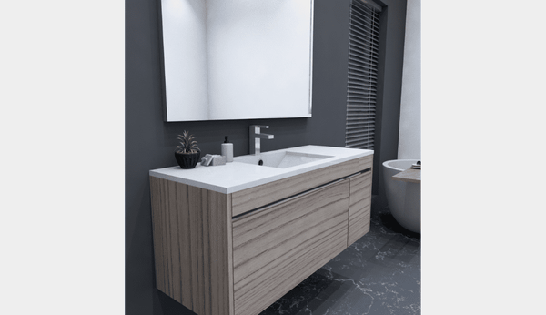 NZ Made Pania 1200 Wall Hung Single Basin Vanity - Available in 6 different finishes