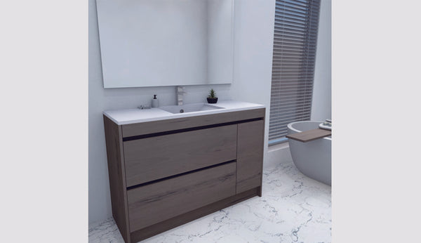 NZ Made Ngaio 1200 Floor Standing Single Basin Vanity - Available in 7 different finishes