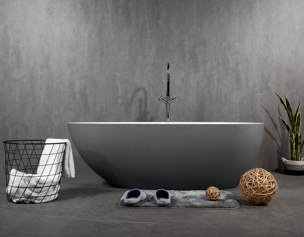 Ocenia Artificial Stone  Grey Bathtub