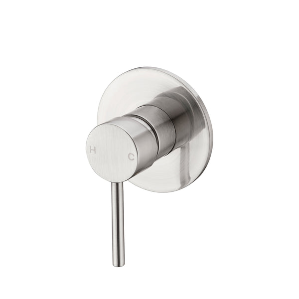 CLASSIC ROUND BRUSHED NICKEL SHOWER MIXER